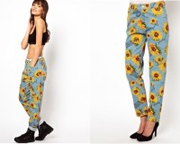 Lunchtime Buy: Joyrich Sunflower Print High Waisted Boyfriend Jeans