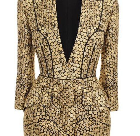 Buy of the Week: Alexander McQueen honeycomb jacquard bombe hip jacket