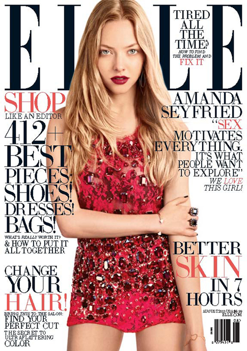 Amanda Seyfried dazzles in Dolce and Gabbana for Elle US August
