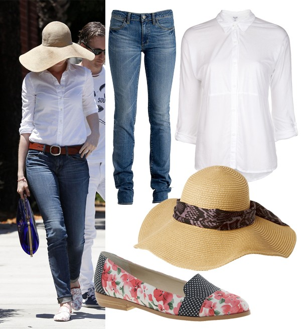 Get Anne Hathaway's Paper Denim and Cloth look