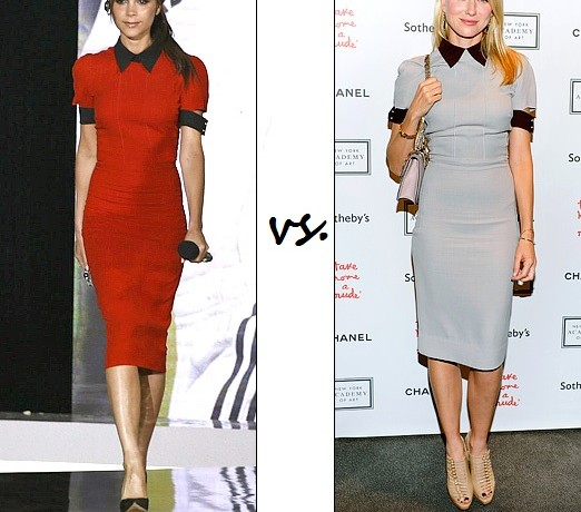Who wore Victoria Beckham better…Victoria Beckham vs. Naomi Watts?