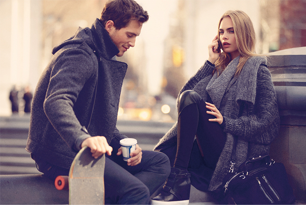 Ollie Jackson joins Cara Delevingne for DKNY AW13
