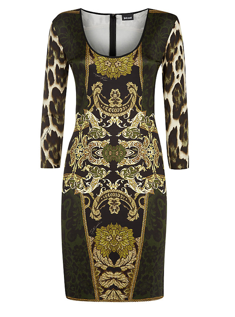 Lunchtime Buy: Just Cavalli scoop neck tapestry dress