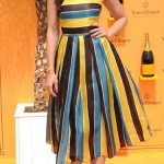 Daisy Lowe colour pops and sparkles for Veuve Clicquot Gold Cup