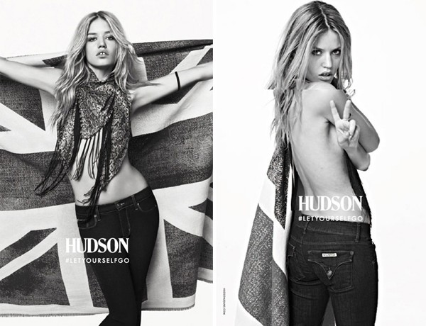 Georgia May Jagger goes topless for Hudson jeans
