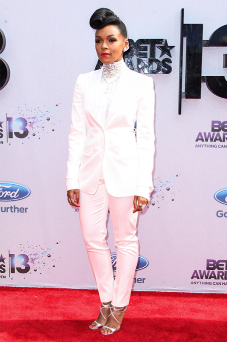 Janelle Monae's slick Dolce and Gabbana tux at the BET 2013 Awards