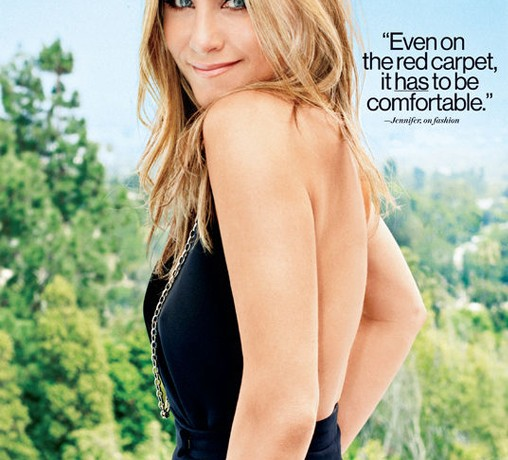 Jennifer Aniston wears Valentino for Glamour US September 2013