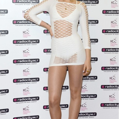 Is Jessie J's fishnet look trendy or trashy?