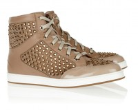 Lunchtime Buy: Jimmy Choo Tokyo crystal-embellished suede, leather and patent sneakers