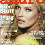 Kate Moss pouting perfection on Allure August cover