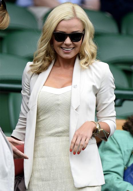 Katherine Jenkins does Wimbledon white like a pro