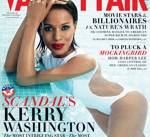 Scandal's Kerry Washington sizzles on Vanity Fair's August issue