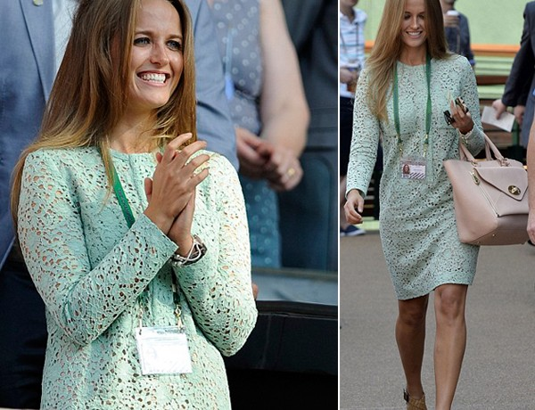 Kim Sears stuns in Victoria Beckham dress for Wimbledon men's final