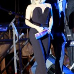 Lady Gaga tones it down in sculpted Maison Martin Margiela