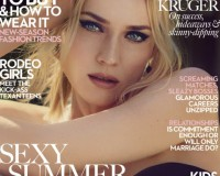 Diane Kruger covers Marie Claire UK's August issue
