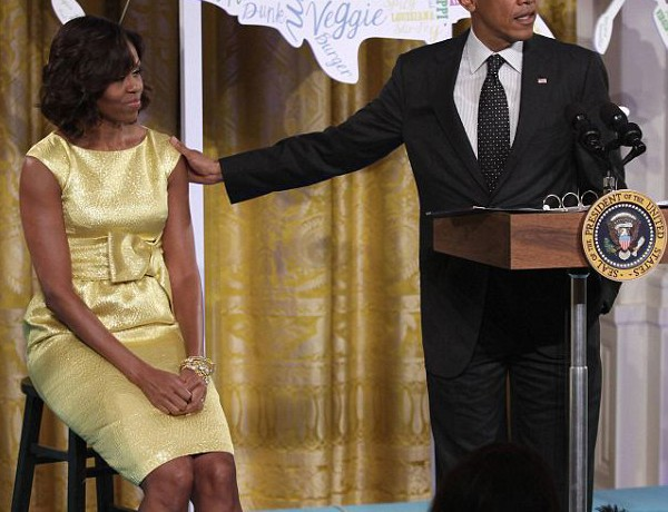 Michelle Obama sunshine bright in Michael Kors