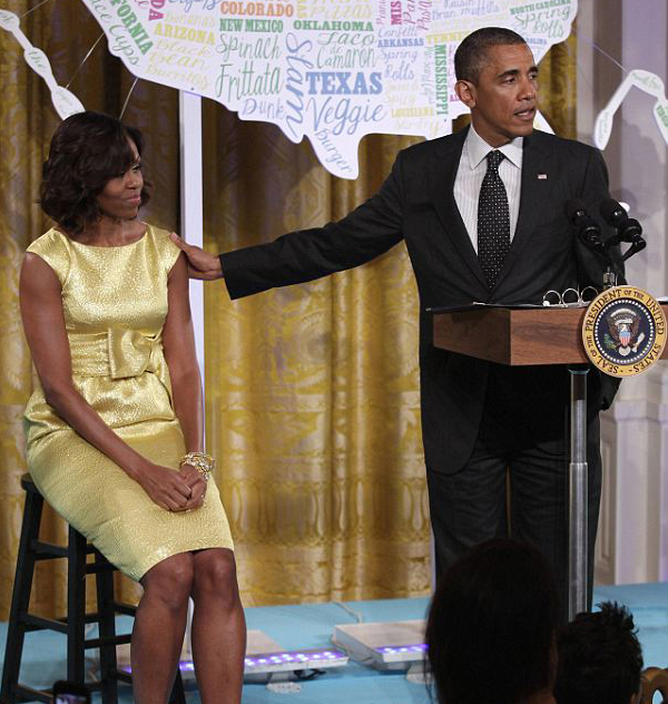 michelle obama michael kors yellow