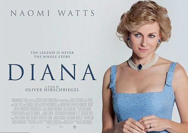 Naomi Watts IS Princess Diana in film poster first look