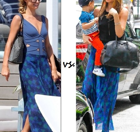 Paris Hilton vs. Miranda Kerr…Who wore Topshop better?