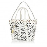 Lunchtime Buy: River Island white leather laser cut tote bag