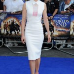 Rosamund Pike plays peek-a-boo in Victoria Beckham dress