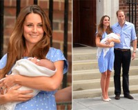 Kate Middleton wears Jenny Packham to introduce Royal Baby