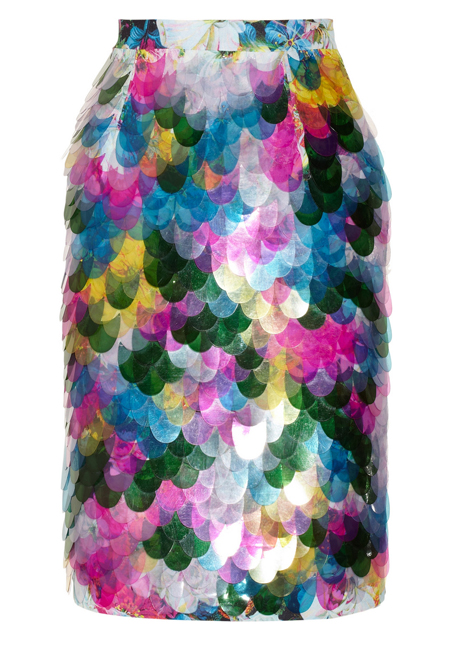 Buy of the Week: Erdem Aysha paillette-embellished floral-print silk skirt