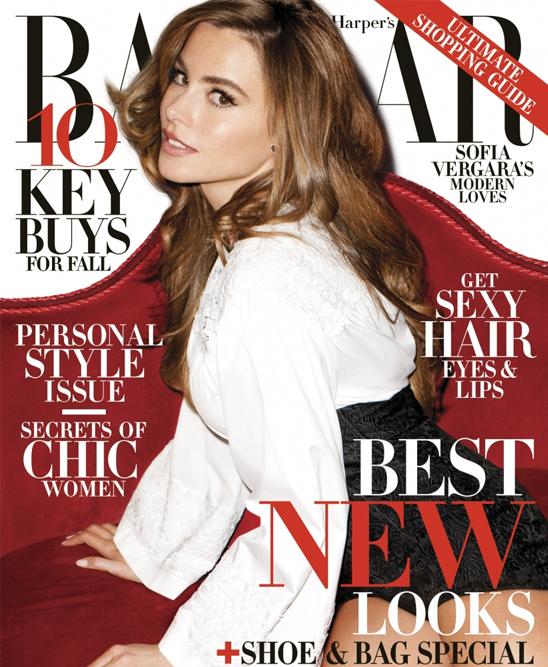 Sofia Vergara covers up for Harper's Bazaar US (and still looks gorgeous!)