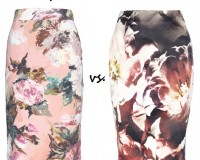 Steep vs. Cheap: Floral-print pencil skirt