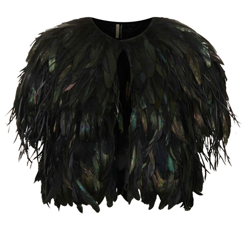 Lunchtime Buy: Topshop feather capelet