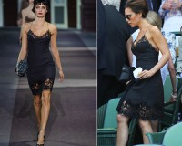 Victoria Beckham rocks Louis Vuitton lingerie dress for Wimbledon men's final