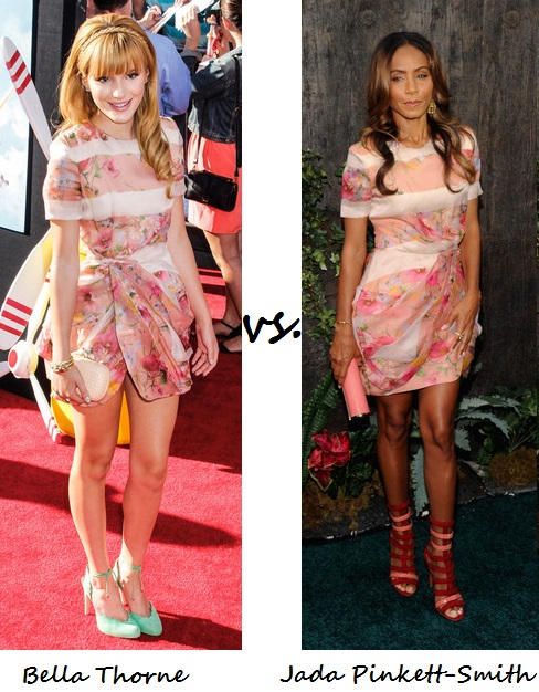 Bella Thorne vs. Jada Pinkett-Smith…Who wore Blumarine better?
