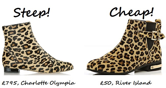 Steep vs. Cheap: Leopard-print ankle boots