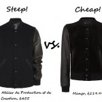 Steep vs. Cheap: Leather sleeve bomber jacket