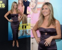 Jennifer Aniston is all smiles in Burberry for We're the Millers premiere