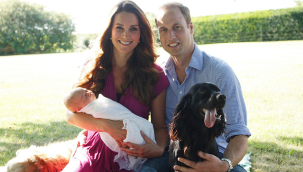 Kate Middleton wears Seraphine in first official family portrait with Prince George