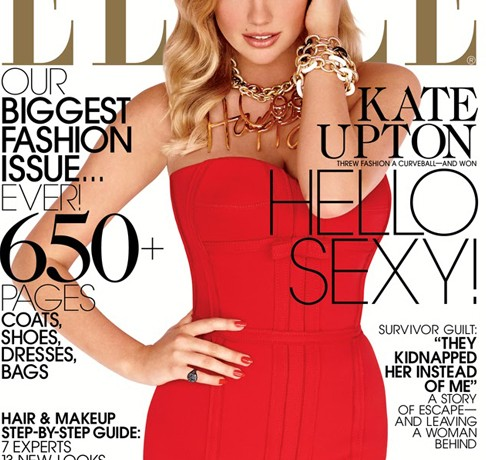 Kate Upton is luscious in Lanvin for Elle US September issue