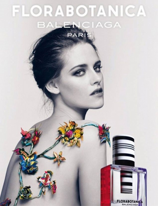 Kristen Stewart topless for Balenciaga's Florabotanica