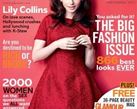 Lily Collins compares London and LA in Glamour UK September issue