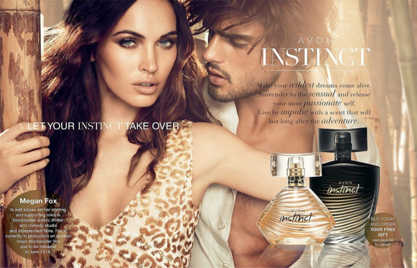 Megan Fox smoulders for Avon's Instinct fragrance ad