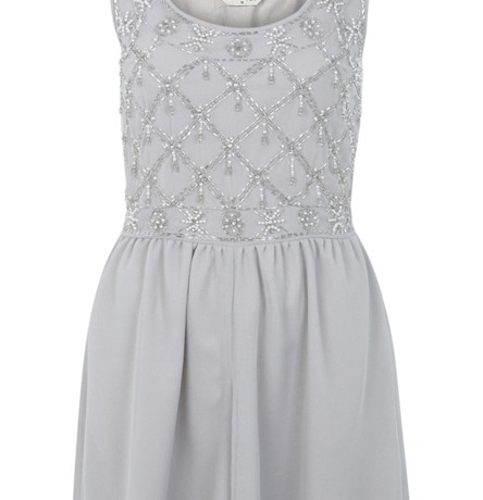 Lunchtime Buy: Miss Selfridge grey embellished mesh playsuit