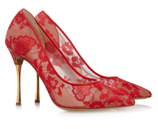 Lunchtime Buy: Nicholas Kirkwood lace mesh pumps