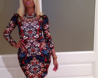 Nicki Minaj stuns in stained glass Alexander McQueen dress
