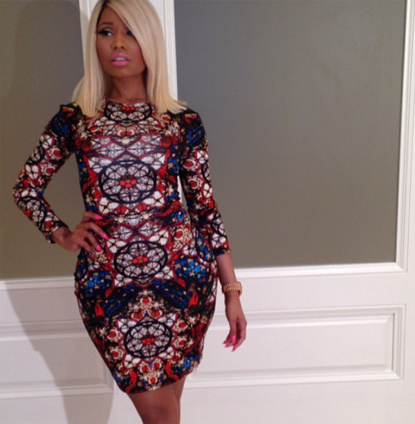 nicki minaj alexander mcqueen dress instasgram