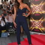 Nicole Scherzinger stuns in Three Floor jumpsuit at X Factor launch