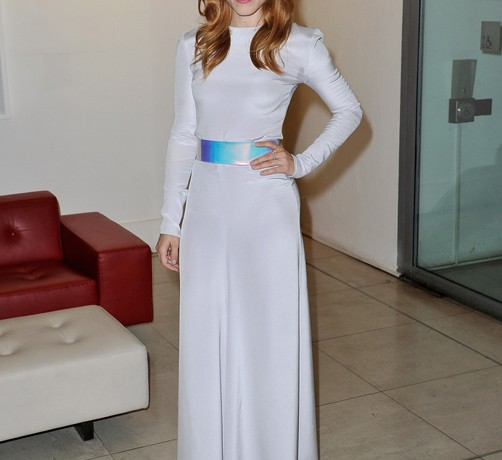 Rachel McAdams is futuristic in Roksanda Ilincic at Somerset House