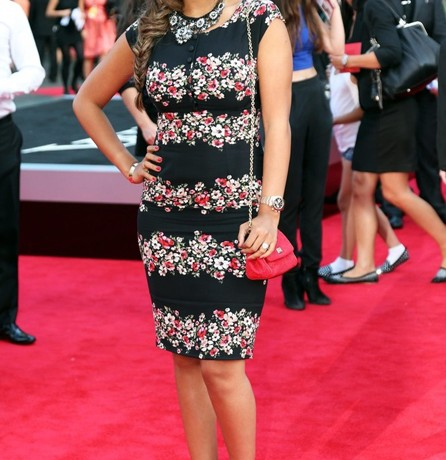 Rochelle Humes wears Dolce and Gabbana for One Direction This Is Us premiere