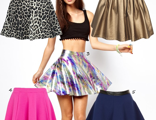 5 glam trans-seasonal skater skirts