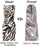 steep v cheap zebra print