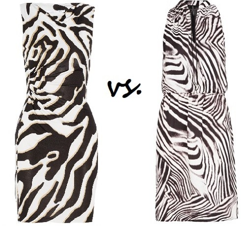 Steep vs. Cheap: Zebra-print dress